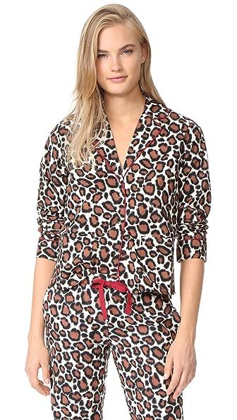 Les Girls, Les Boys Pajama Top - Leopard