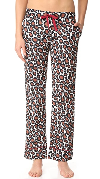 Les Girls, Les Boys Pajama Bottoms In Leopard