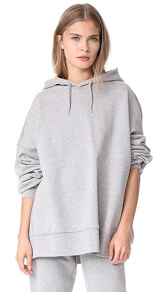 Les Girls, Les Boys Oversized Hoodie In Grey Marl