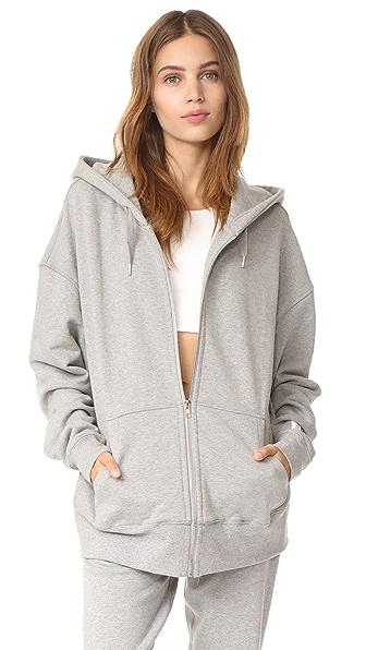 Les Girls, Les Boys Zip Up Hoodie - Grey Marl