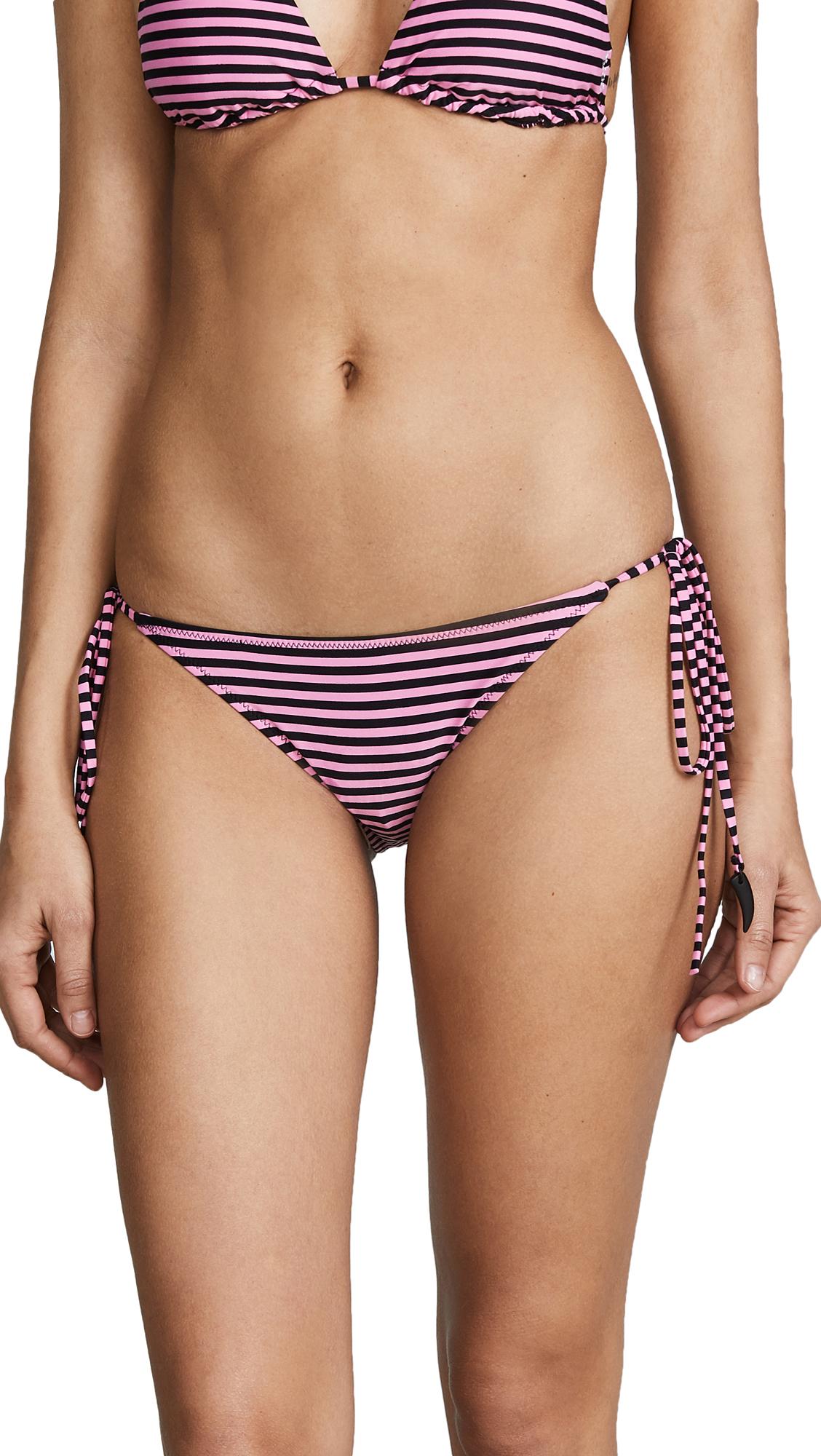 Les Girls Les Boys Stripe Tie Side Bikini Bottoms