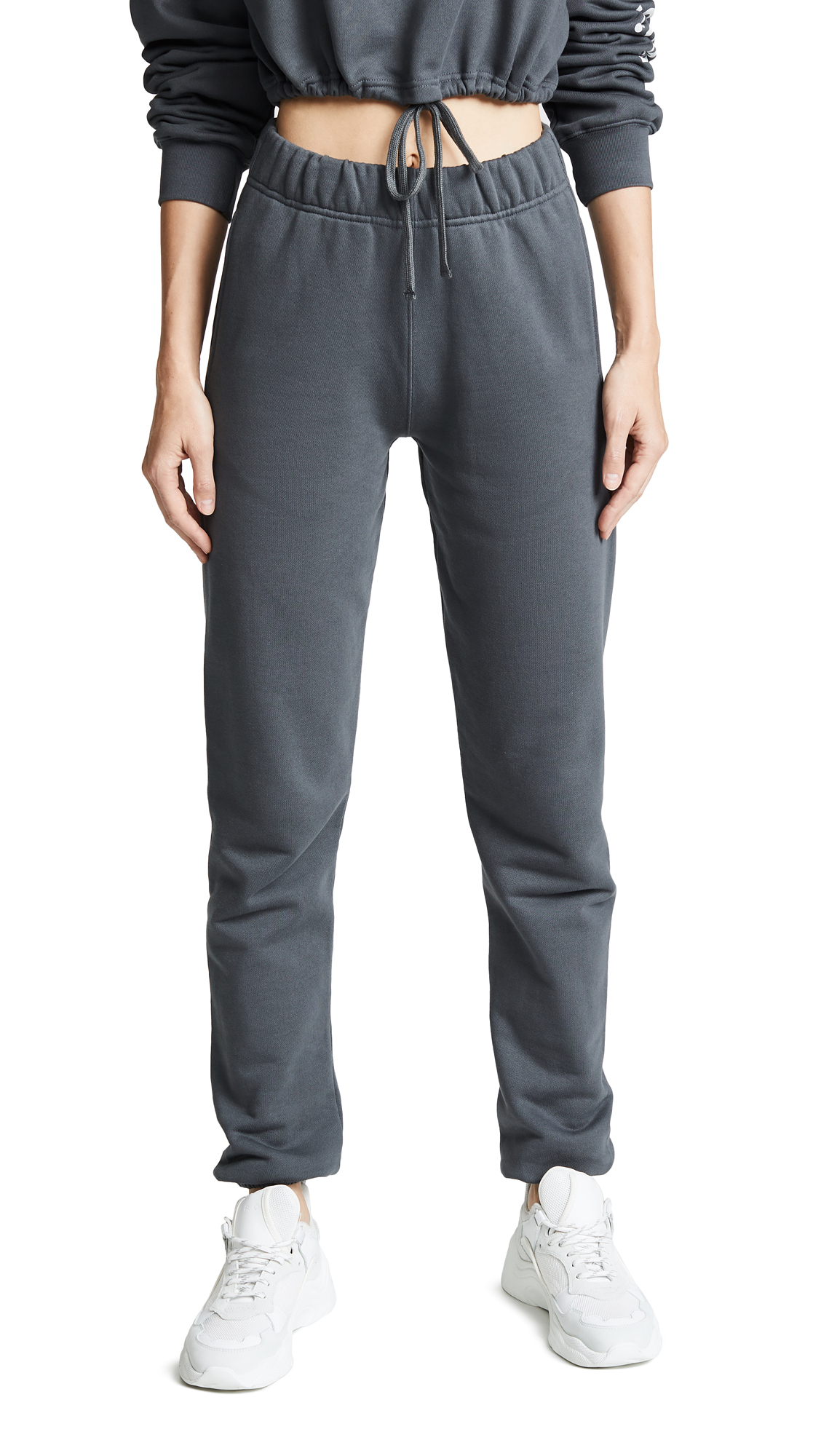 Les Girls, Les Boys Girls Loopback Track Pants In Slate