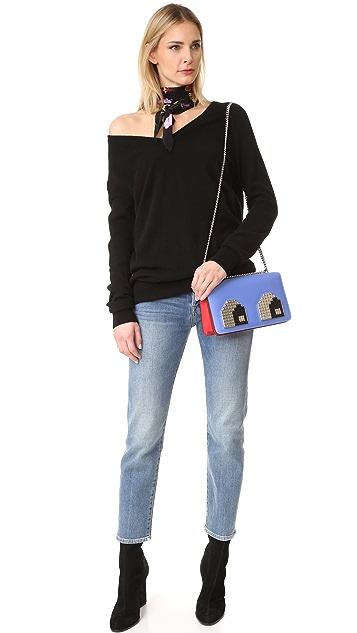 les petits joueurs Миниатюрная сумка через плечо Janis с металлизированными глазами