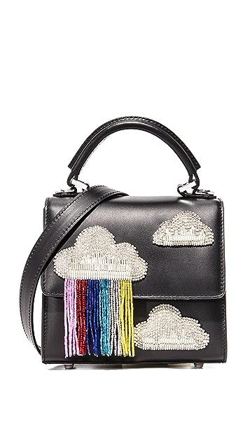 les petits joueurs Маленькая сумка Alex с бахромой и облаками