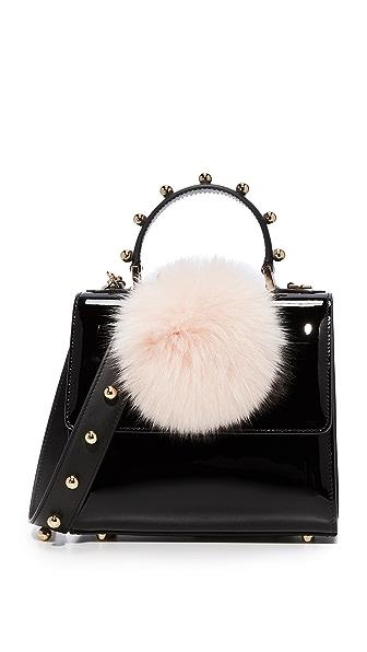 les petits joueurs Mini Alex Bunny Spheres Bag - Black/Pink