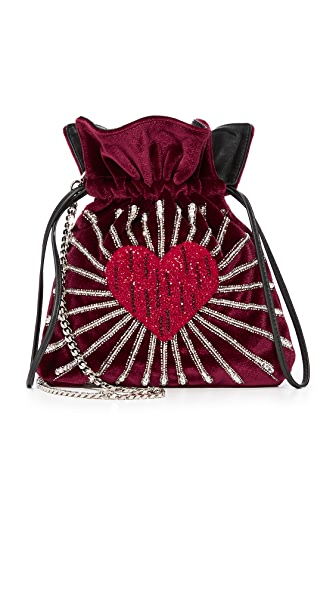 les petits joueurs Trilly Heart Bag - Red Multi