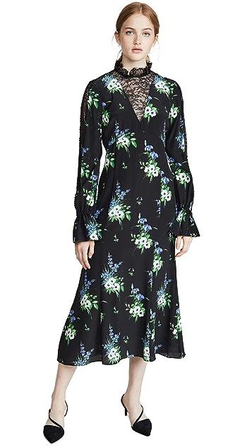 Photo of  LES REVERIES Lace Inset Victorian Dress - shop LES REVERIES dresses online sales
