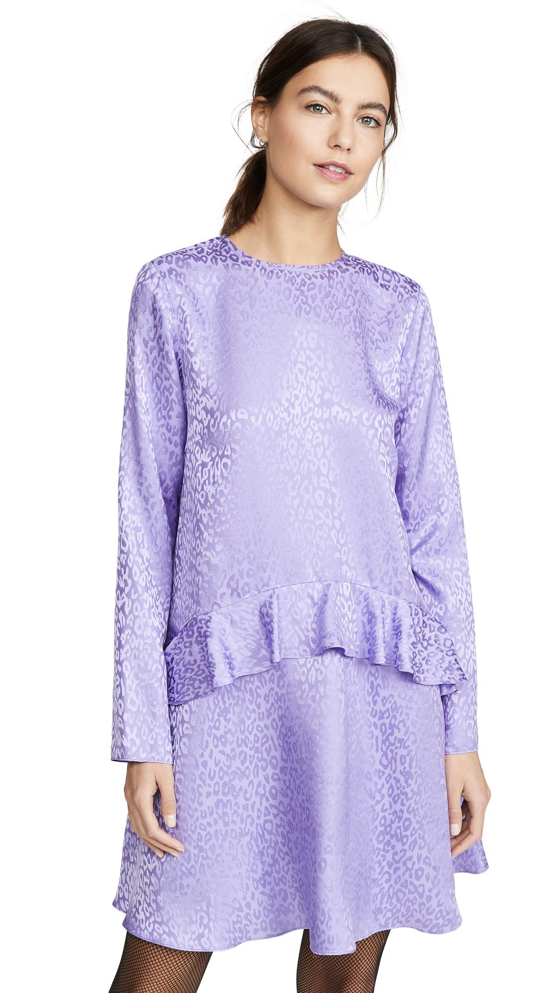 LES REVERIES Ruffle Skirt Mini Dress - 70% Off Sale