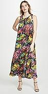 LES REVERIES Bow-Tie Maxi Dress