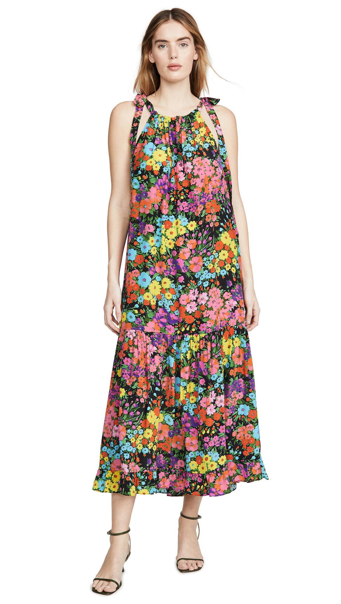 LES REVERIES Bow-Tie Maxi Dress - 60% Off Sale