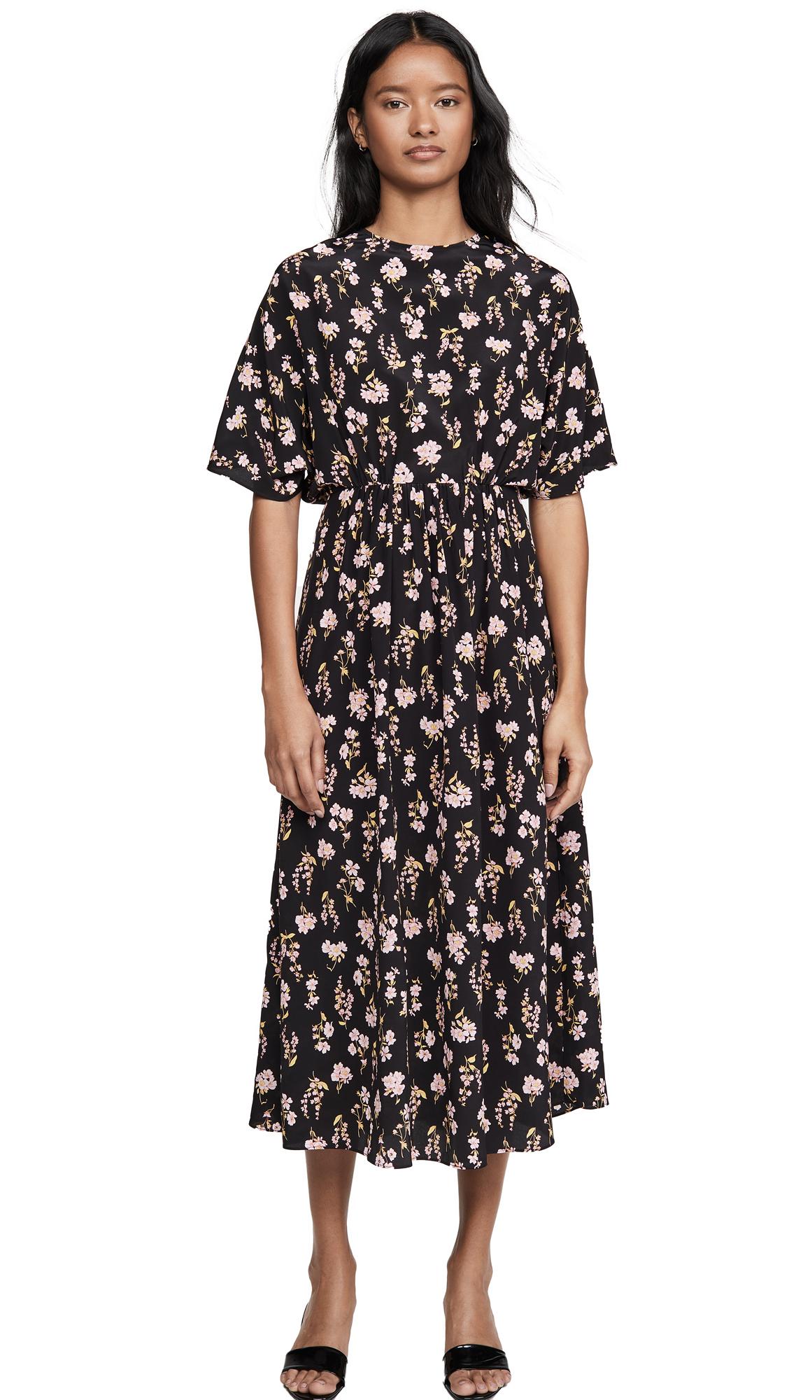 LES REVERIES Circular Sleeve V-Back Dress - 50% Off Sale