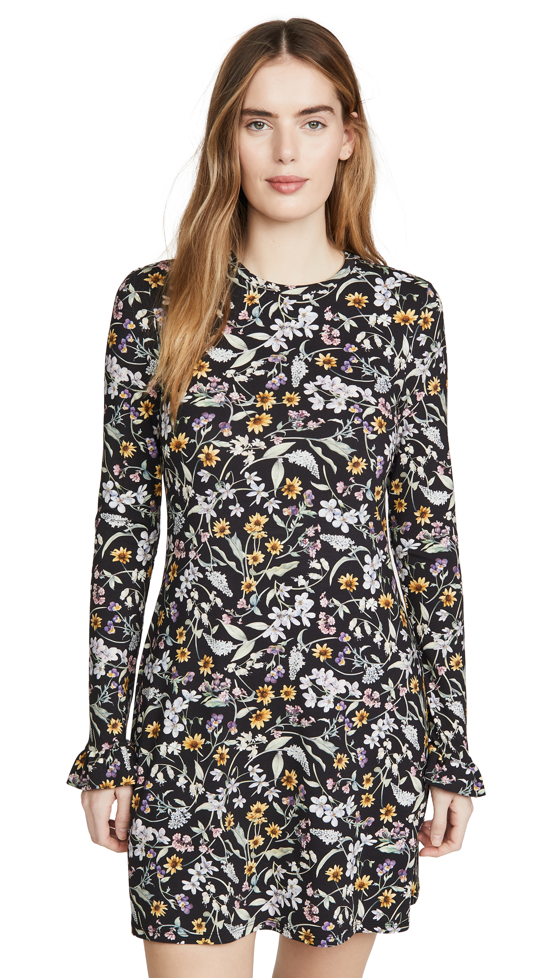 LES REVERIES Open Back Long Sleeve Mini Dress - 70% Off Sale