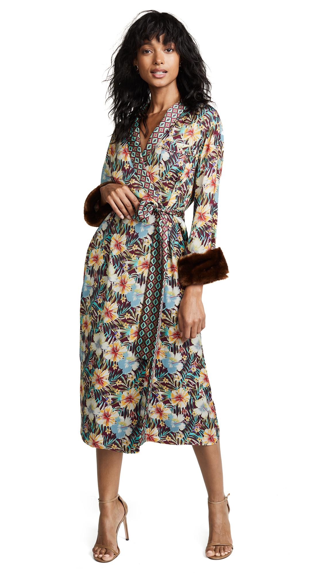 Le Superbe Hibiscus Robe Dress In Hibiscus