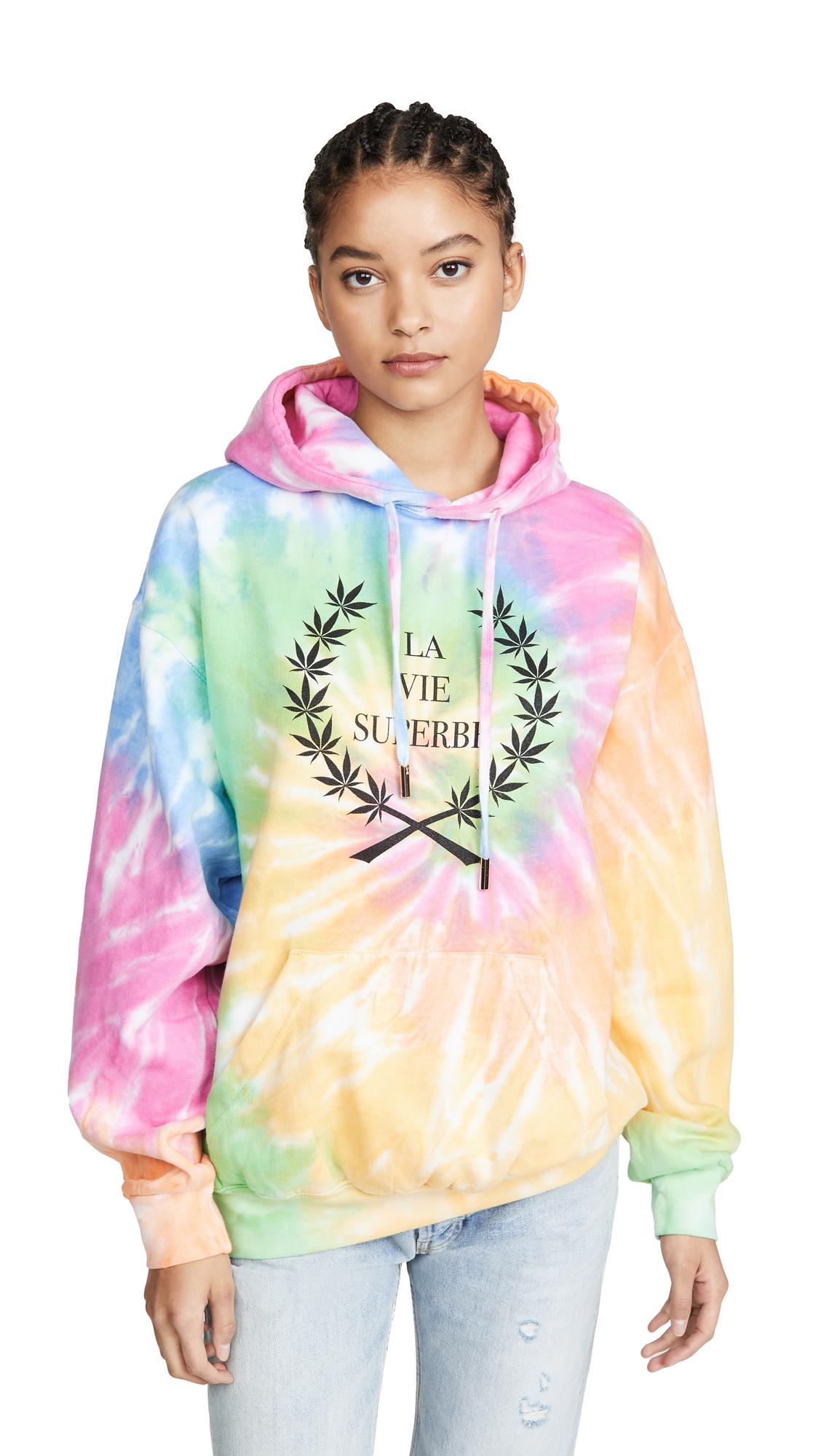 Buy Le Superbe online - photo of Le Superbe La Vie Superbe Tie Dye Hoodie