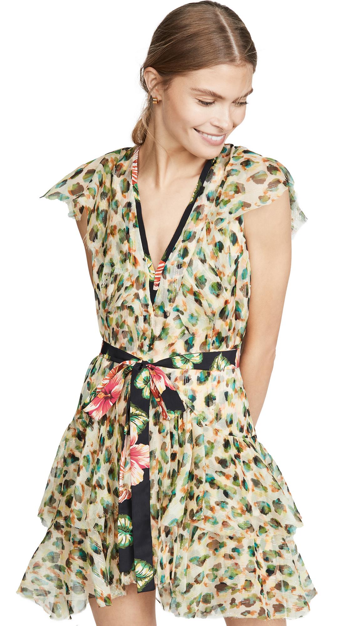 Buy Le Superbe online - photo of Le Superbe Flirty Painted Leopard Chiffon Dress