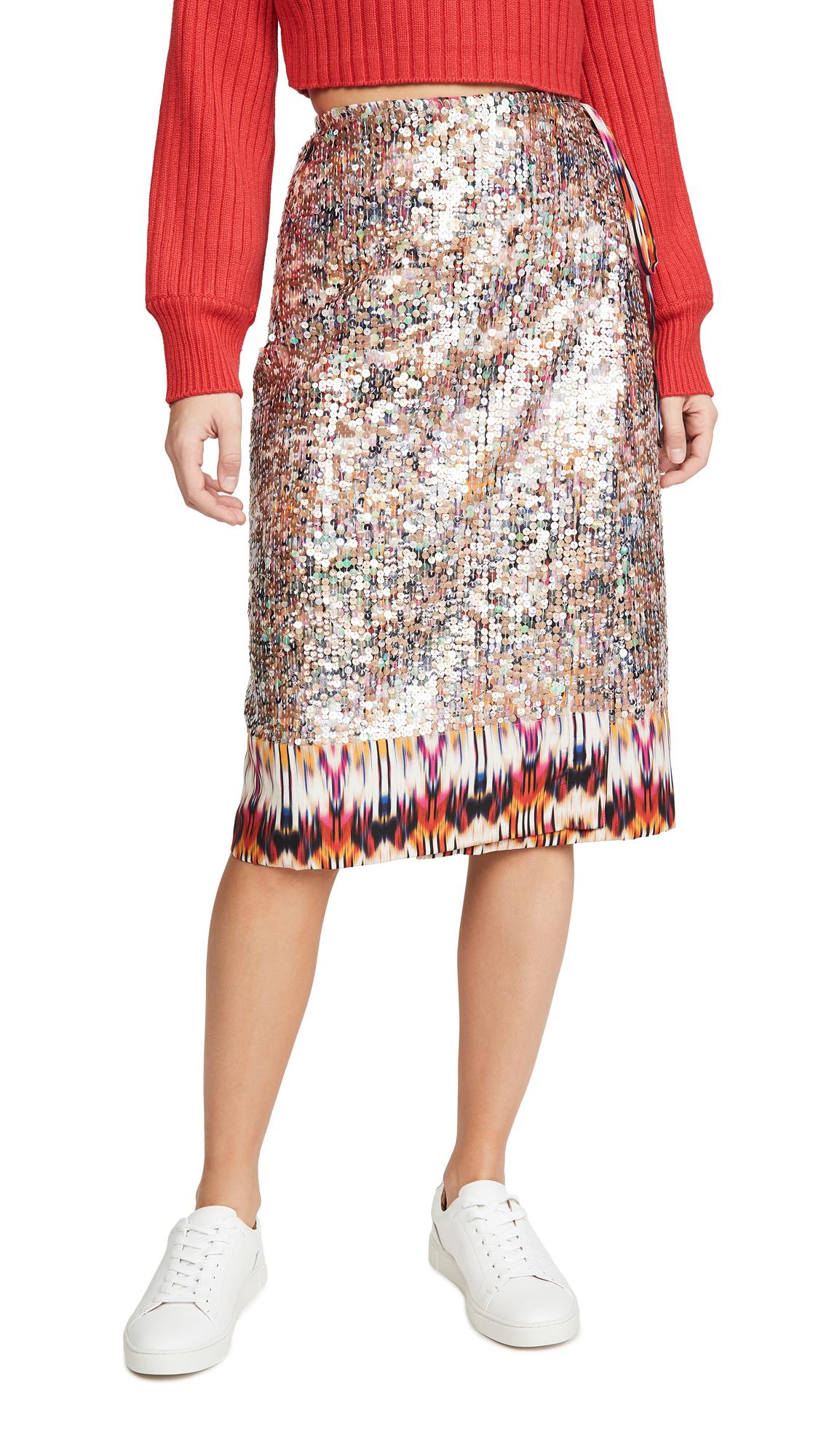 Buy Le Superbe online - photo of Le Superbe Goa Shine Wrap Skirt