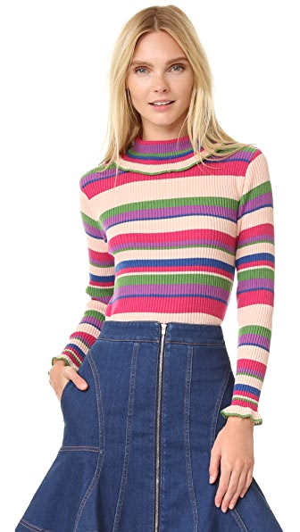 Leur Logette Cashmere Turtleneck Sweater - Stripe