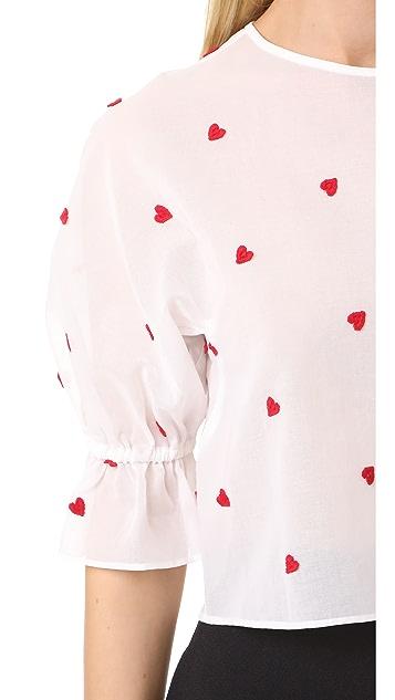 Leur Logette Red Heart Top
