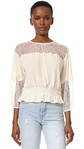 Leur Logette Lace Top - White