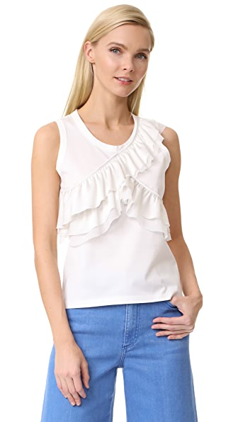 Leur Logette Frill Cross Top In White
