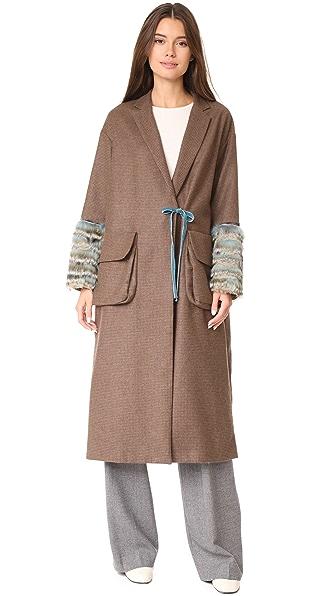 Leur Logette Mallalieus Coat In Brown