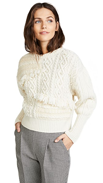 Leur Logette Art Sweater In White
