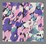 фиолетовый цветочный принт