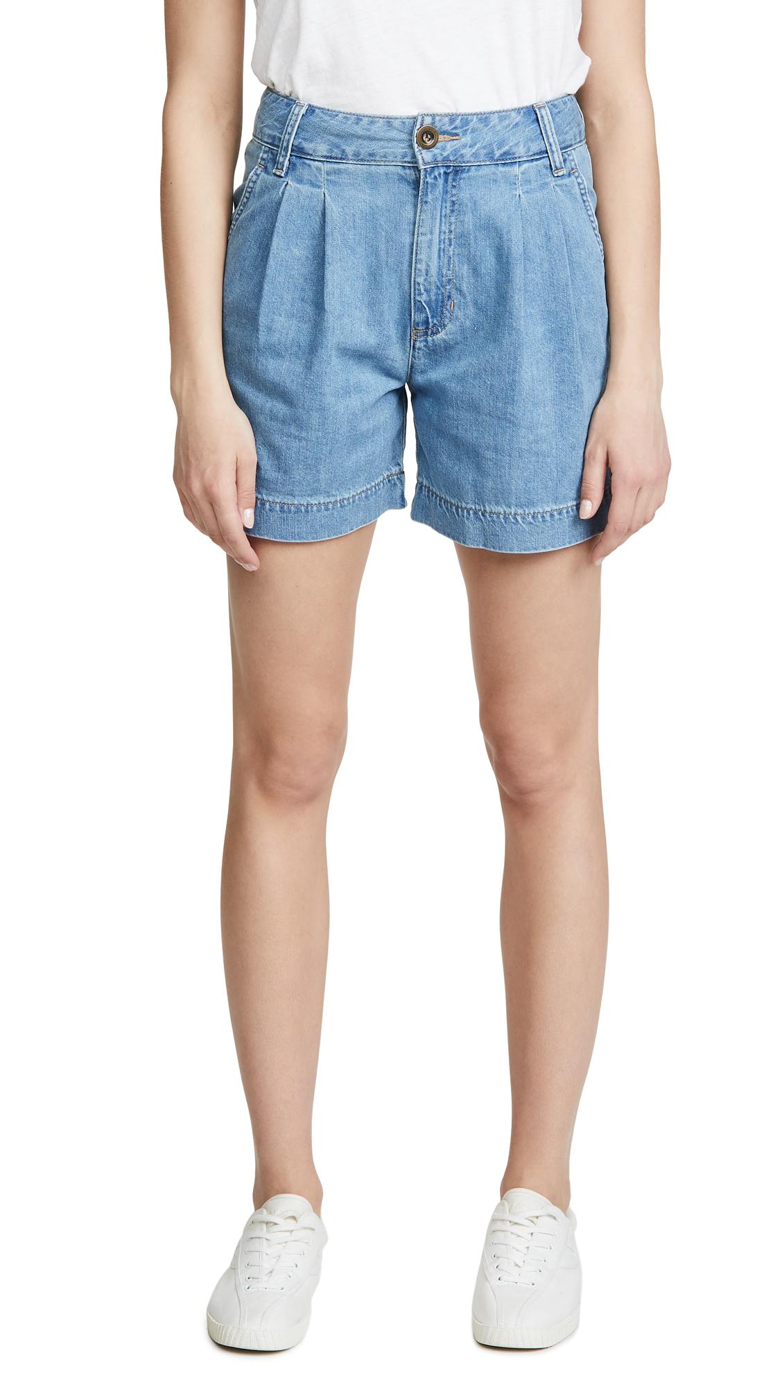 Lee Vintage Modern Pleated Shorts - Horizon Blue