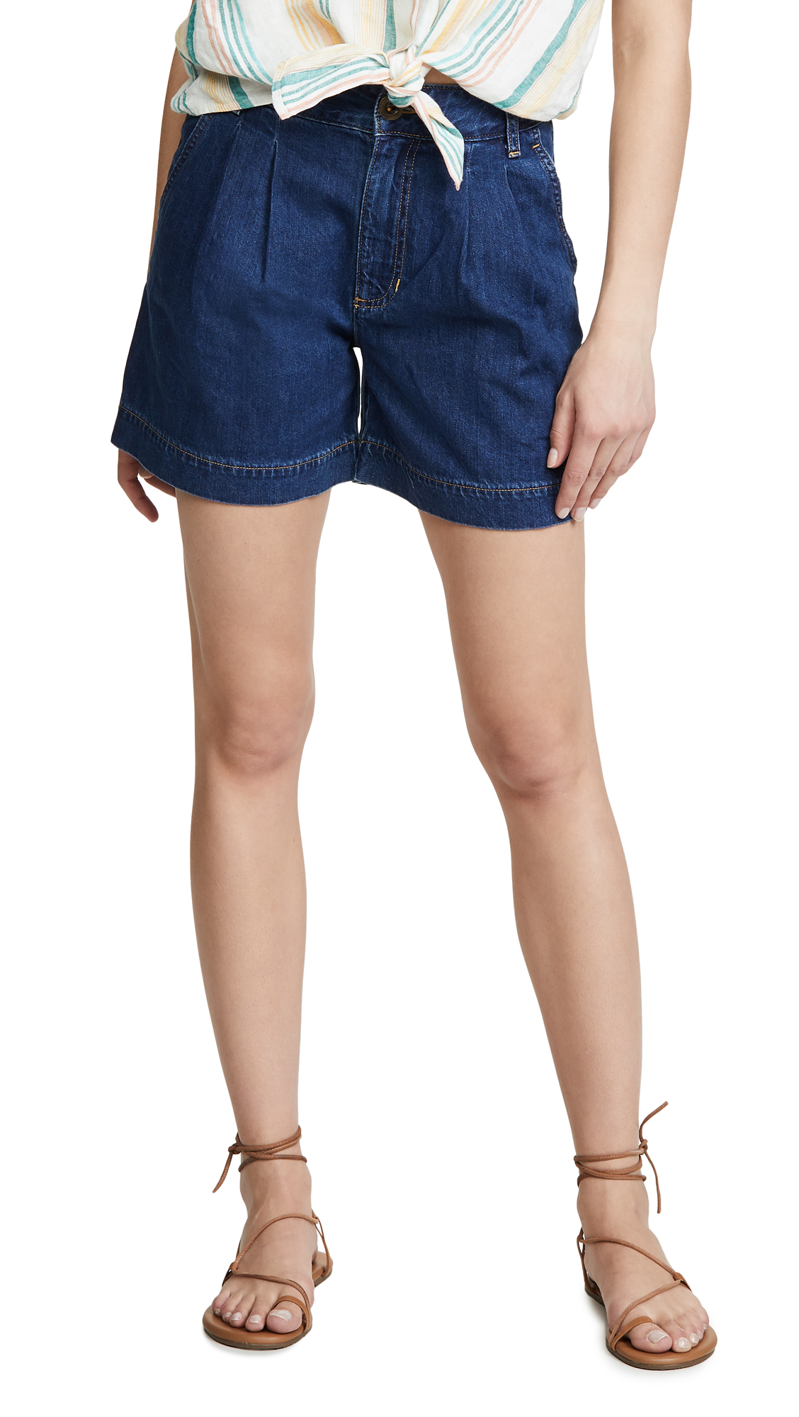 Lee Vintage Modern Pleated Shorts - Artisan Blue