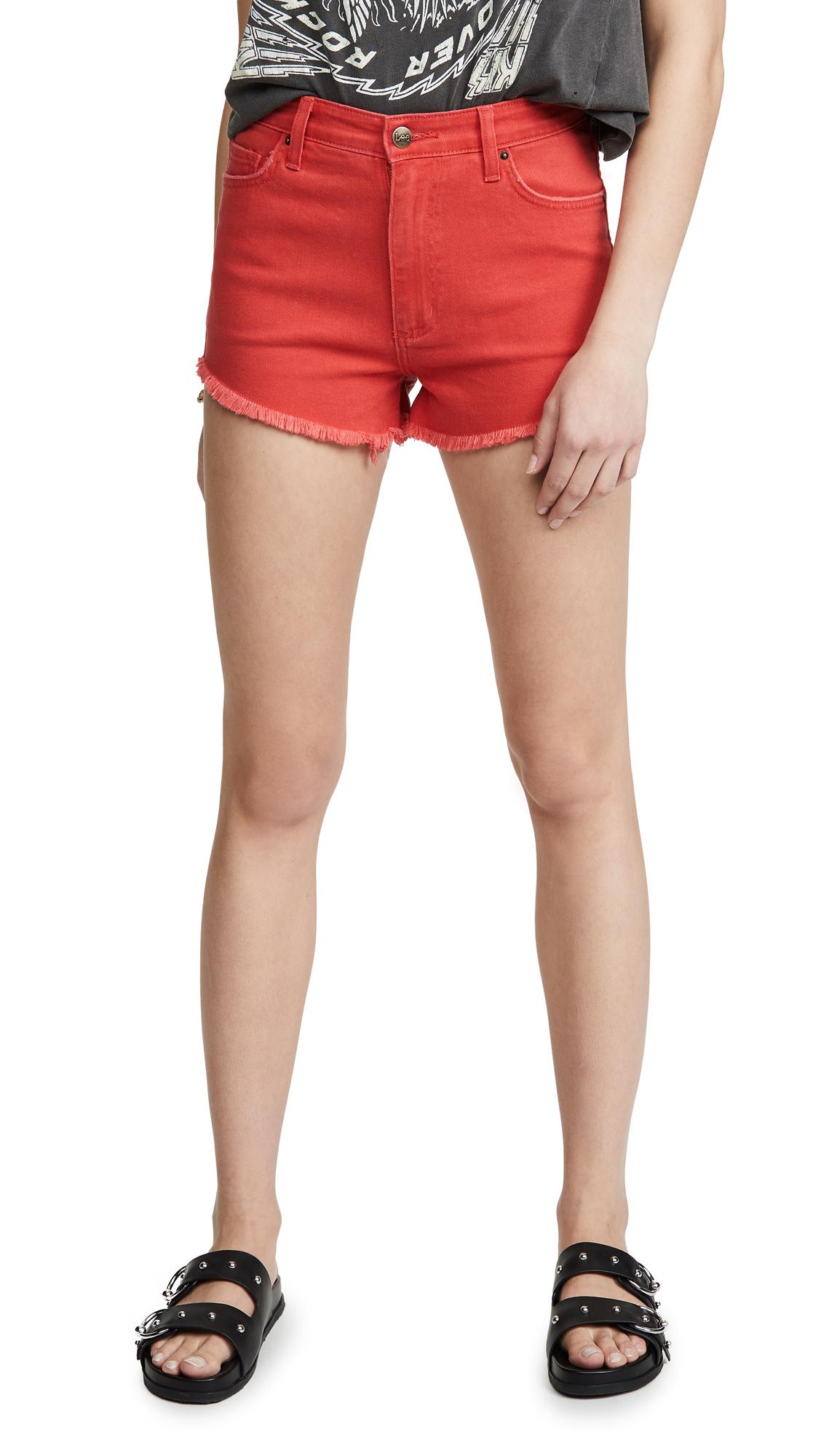 Lee Vintage Modern Cutoff Shorts - High Risk Red