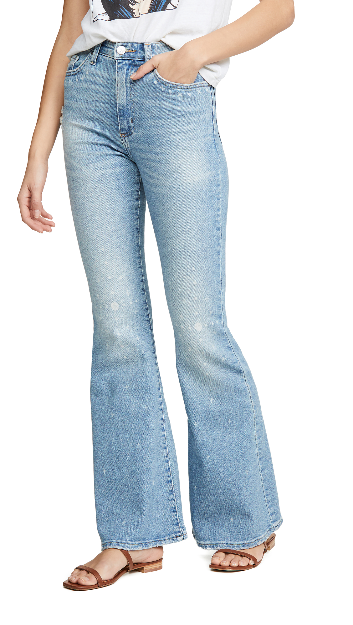 Lee Vintage Modern Flare Jeans - Desert Bleach
