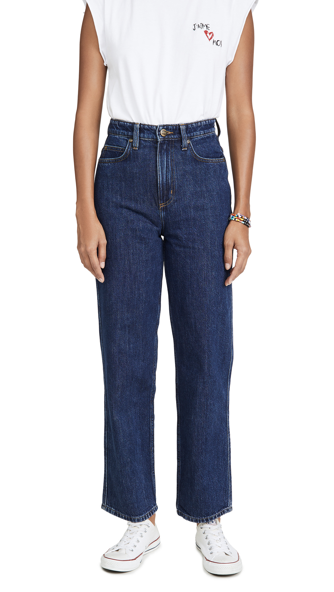 Lee Vintage Modern High Rise Relaxed Stovepipe Jeans - Acid Trip