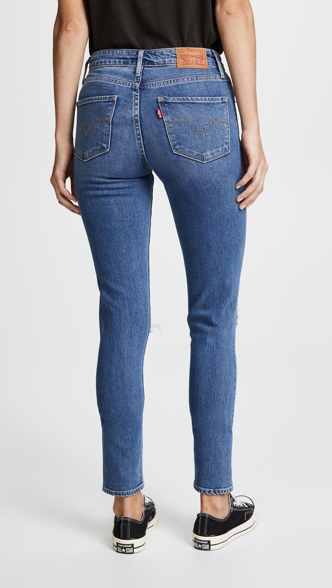 c60d55ce6a14d1 Levi's 721 High Rise Distressed Skinny Jeans   SHOPBOP