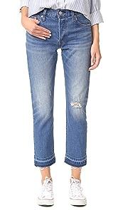 Levis 501 Frayed Hem Jeans