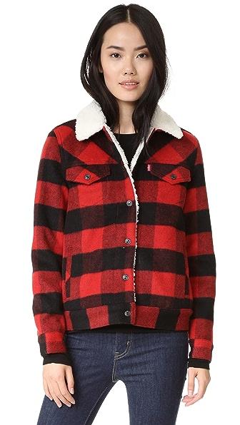 Levi's Wool Boyfriend Sherpa Trucker Jacket