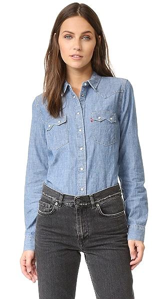 Levi'S Modern Sawtooth Shirt - Medium Chambray at Shopbop