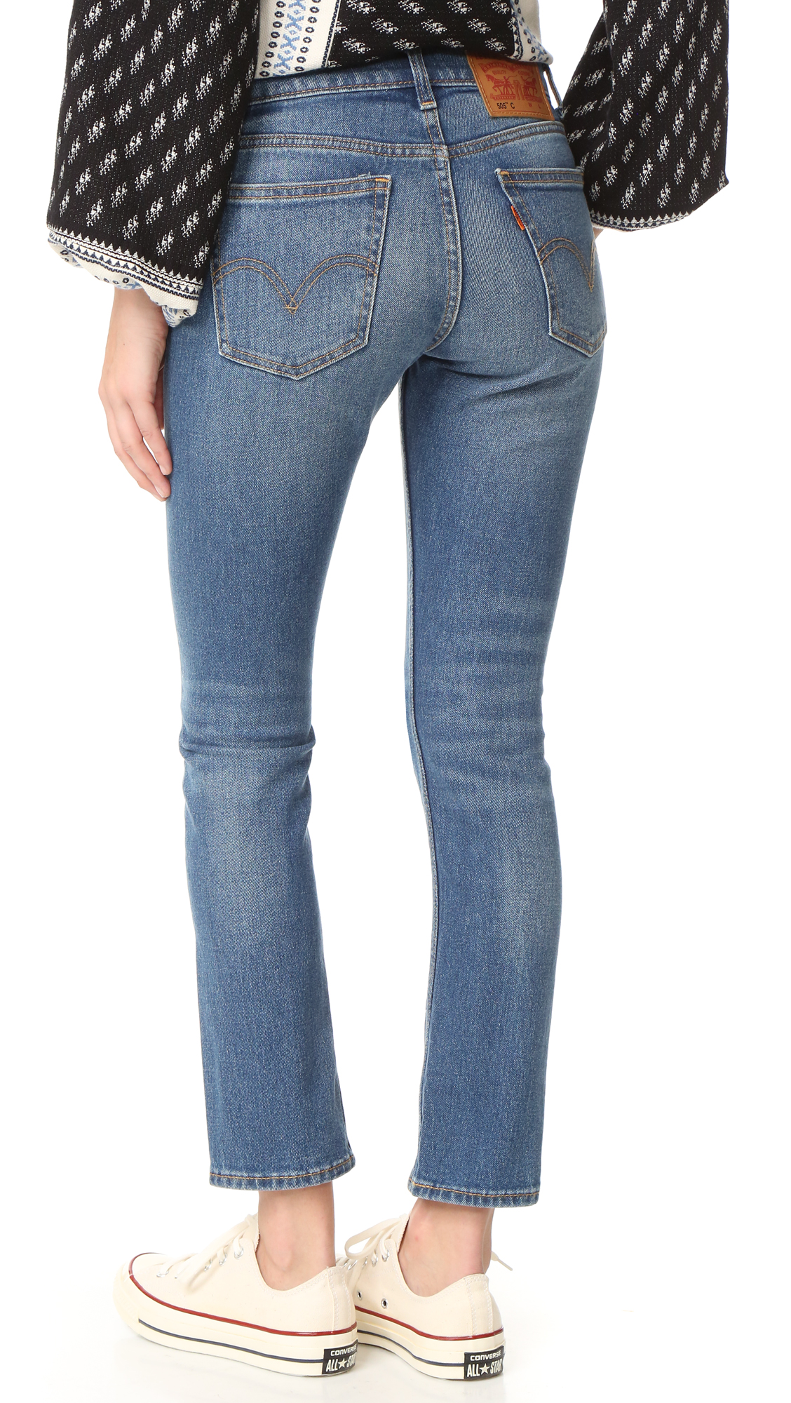 Levi s 505 C Cropped Slim Straight Jeans   SHOPBOP ff849ac189