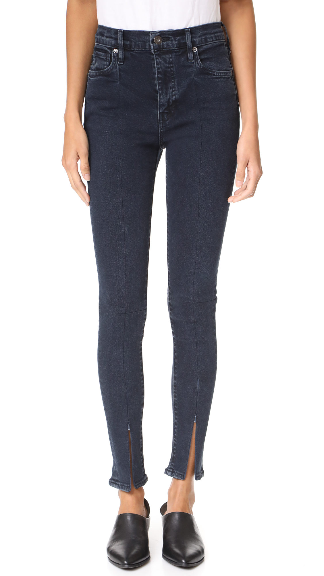 Levi 39 s made crafted spliced sliver high skinny jeans for Levis made and crafted review
