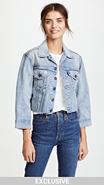 Levi's. LMC x SHOPBOP Cropped BF Trucker Jacket