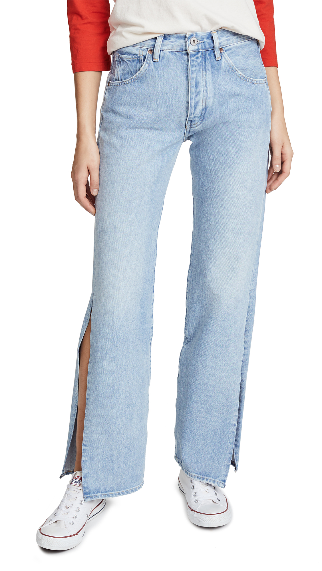 Levi's LMC x SHOPBOP Split Arrow Wide Leg Jeans