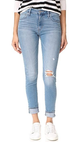 Levi's 721 High Rise Skinny Jeans In Ocean Beach Blues