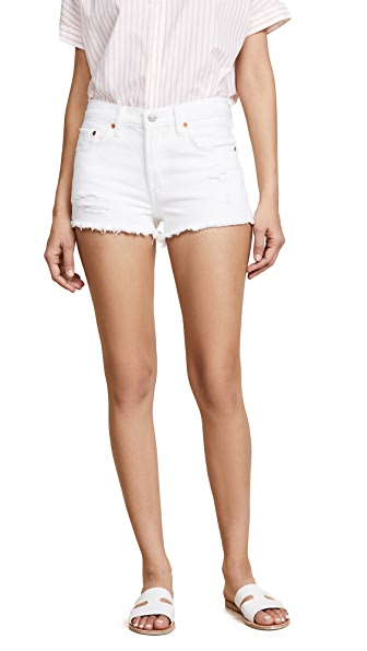 501 Distressed Denim Shorts In Better Love, Super Sonic
