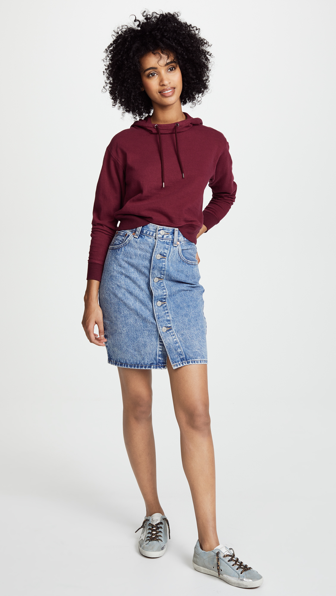 ce53779044 Levi's Button Thru Skirt | SHOPBOP