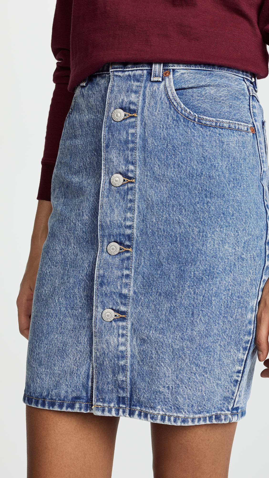ce53779044 Levi's Button Thru Skirt | SHOPBOP