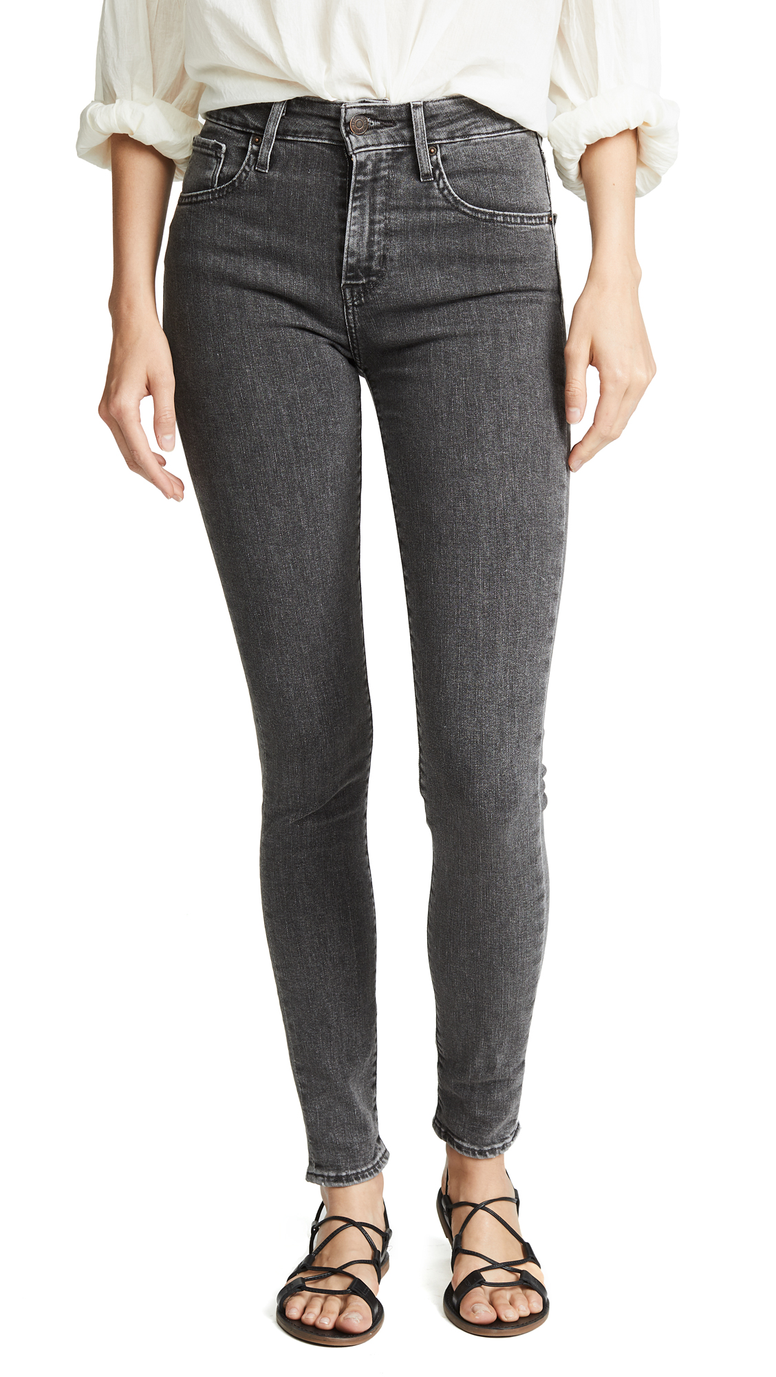 Levis 721 High Rise Skinny Jeans - High-Top Black