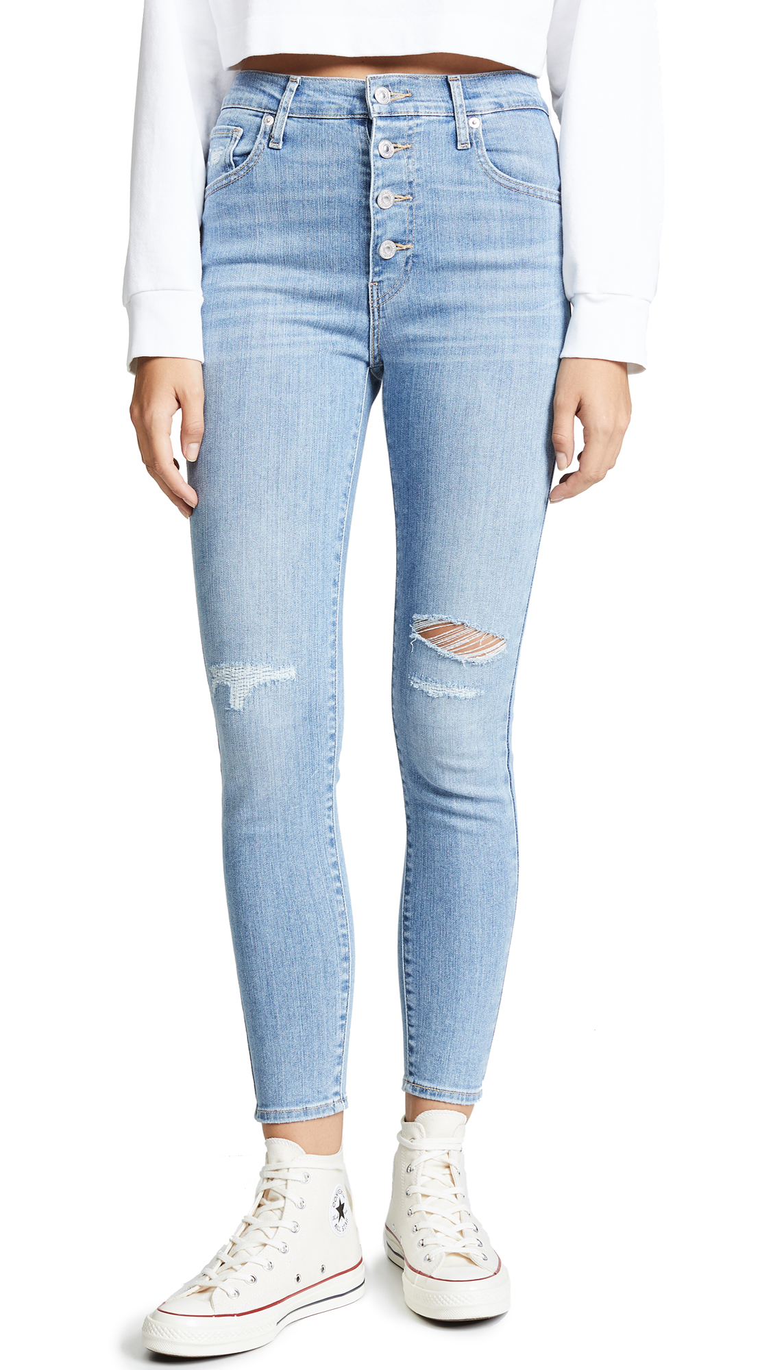 Levi's Mile High Super Skinny Ankle Jeans In Love Shack Baby