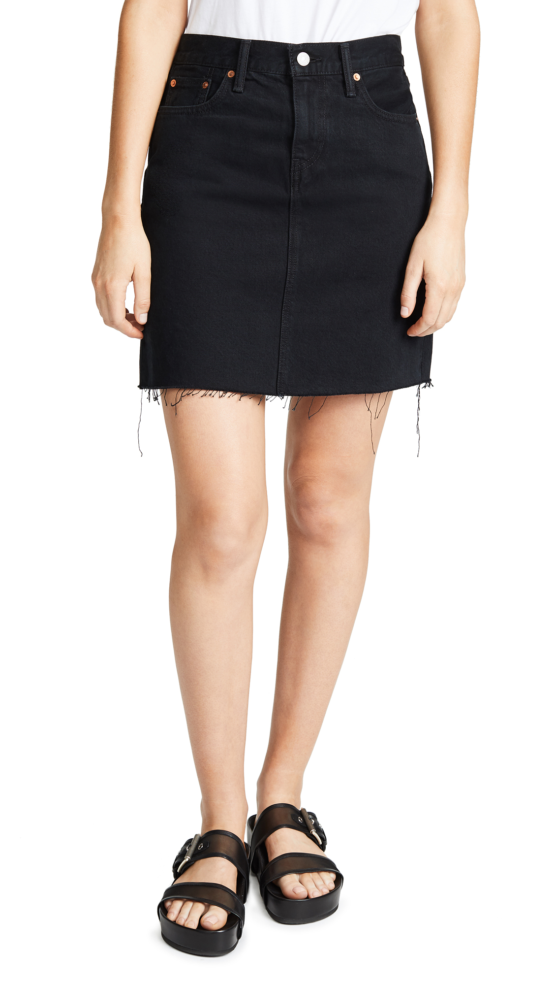 Levi's Everyday Skirt In Charcoal Black