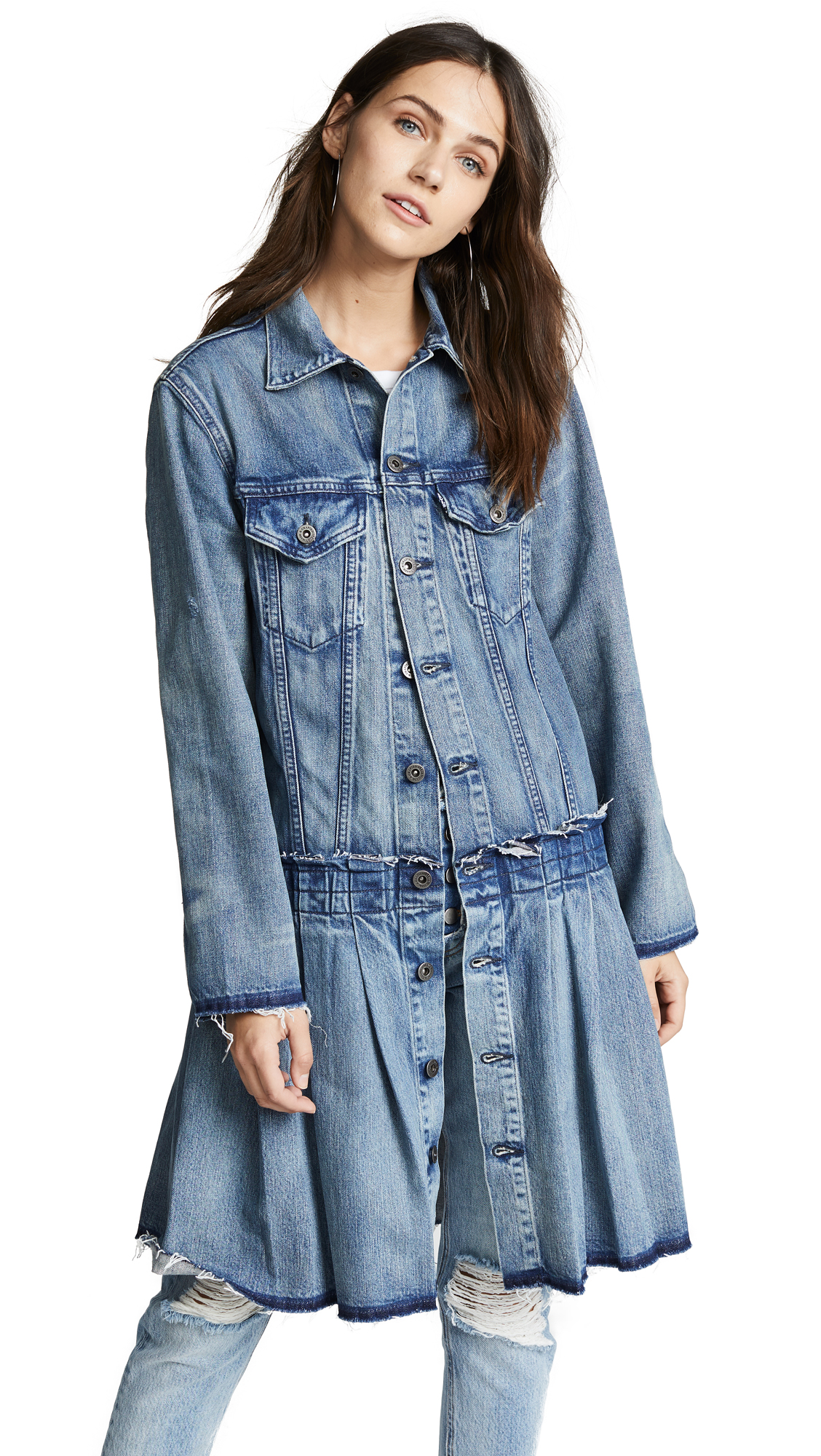 Levi's LMC Pleated Trucker Jacket In Irish Blues