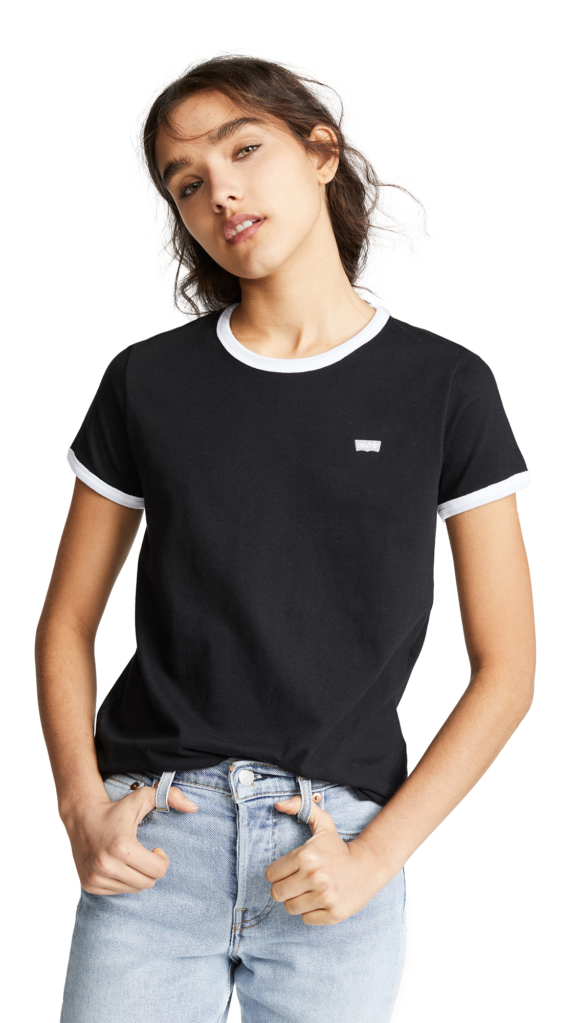 Levis The Perfect Ringer Tee - Mineral Black