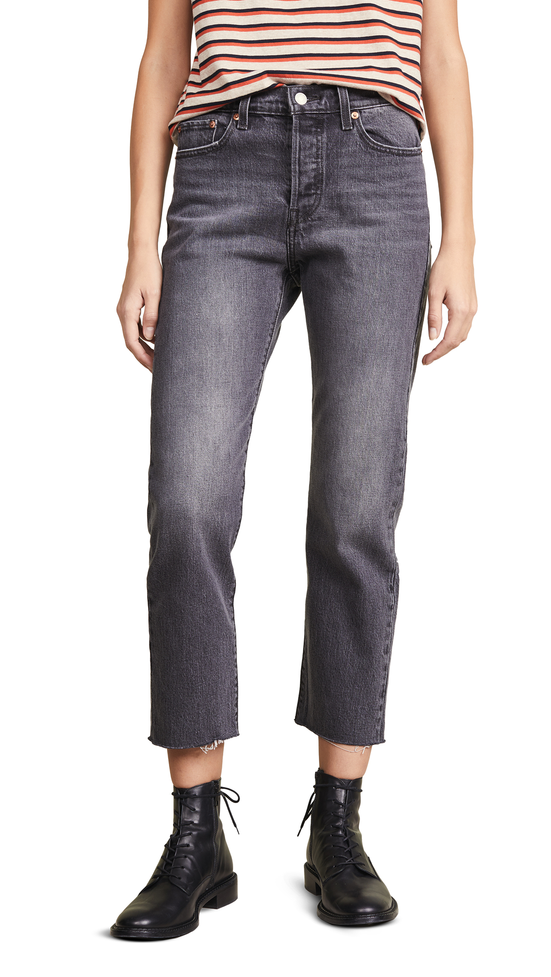 Levis Wedgie Straight Jeans - Black Ember